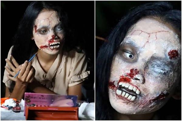 भूत बनकर मरे हुए लोगों के कपड़े बेच रही महिला सोशल मीडिया पर छाई
